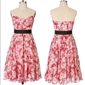 Anthropologie Maeve Floral Strapless Dress NWT🌺